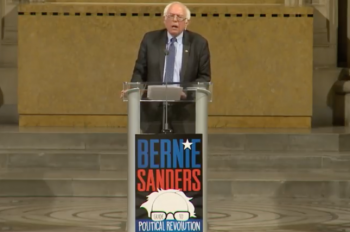 An evening with Bernie Sanders