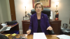 Senator Warren reading the GOP chicken scratches
